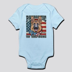 Patriotic - German Shepherd Infant Bodysuit