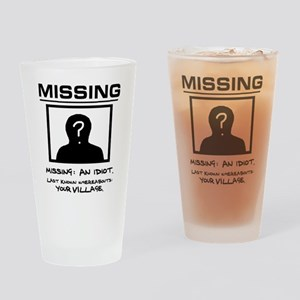 'Missing Poster' Drinking Glass