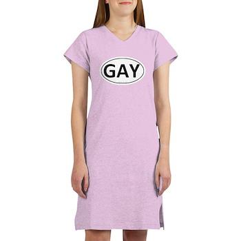 Gay Euro Oval Women's Nightshirt