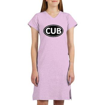CUB Black Euro Oval Women's Nightshirt
