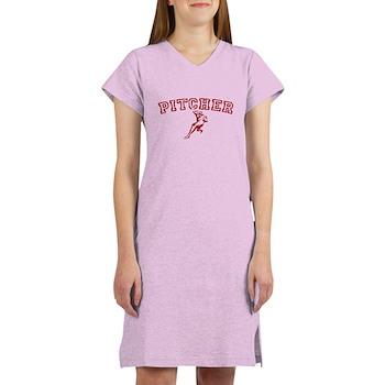 Pitcher - Red Women's Nightshirt
