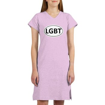 LGBT Euro Oval Women's Nightshirt