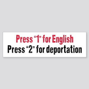Press 1 For English (bumper) Bumper Sticker