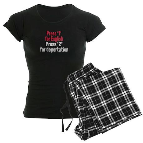 Press 1 for English Women's Dark Pajamas