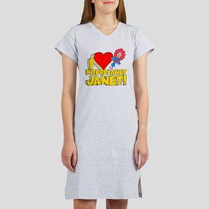 I Heart Interplanet Janet! Women's Nightshirt