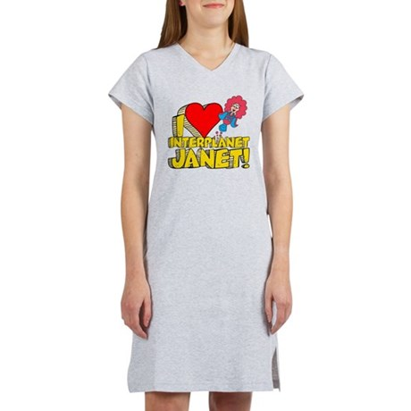 I Heart Interplanet Janet! Women's Nightshirt