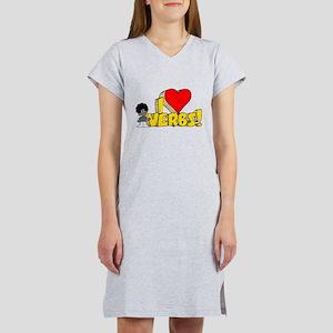 I Heart Verbs - Schoolhouse R Women's Nightshirt