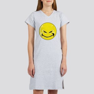 Smiley Face - Yellow Devil Women's Nightshirt
