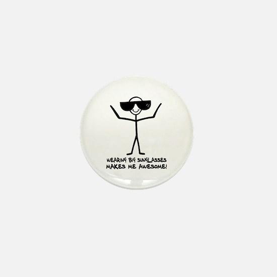 'Big Sunglasses' Mini Button