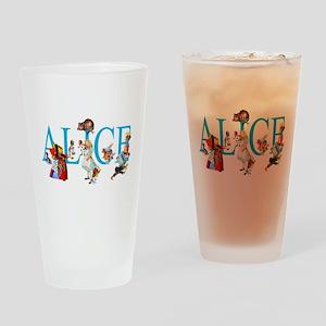 ALICE & FRIENDS IN WONDERLAND Drinking Glass