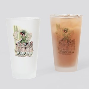 FIVE PRETTY MAIDS IN A ROW Drinking Glass