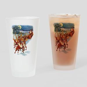 SANTA & HIS REINDEER Drinking Glass
