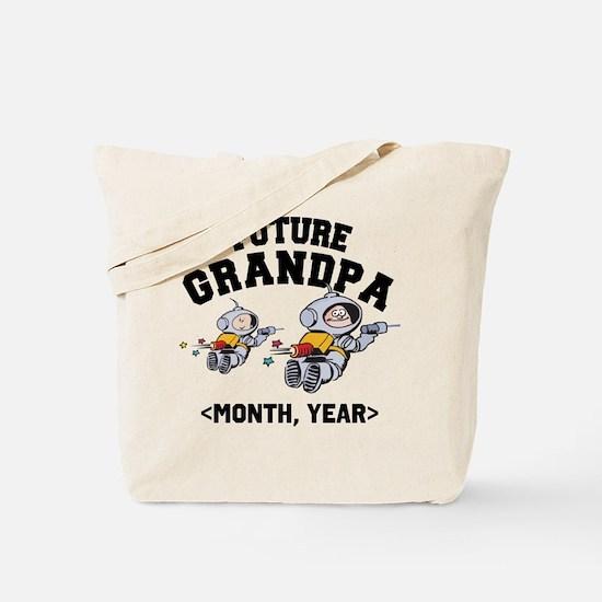 Personalized Future Grandpa Tote Bag