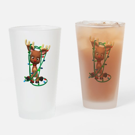 Rudolf - Oh, Deer! Drinking Glass