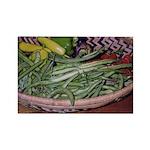 Green Beans - Rectangle Magnet