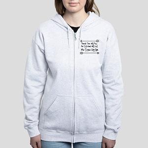 Mu Sigma Upsilon Sorority Siste Women's Zip Hoodie