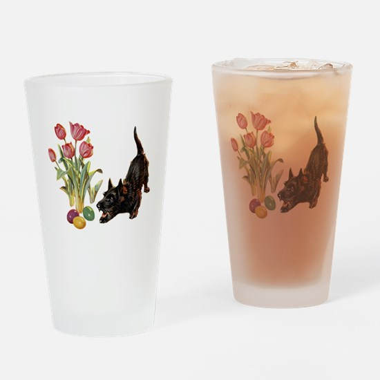 EASTER SCOTTIE Drinking Glass