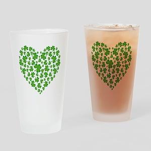 MY IRISH SHAMROCK HEART Drinking Glass