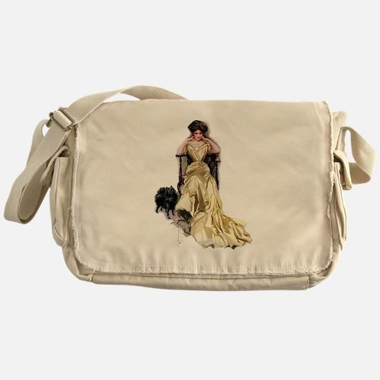 YELLOW SATIN Messenger Bag