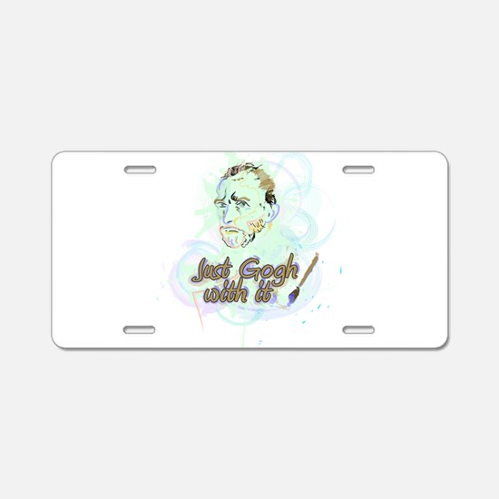 Just Gogh With It! Aluminum License Plate
