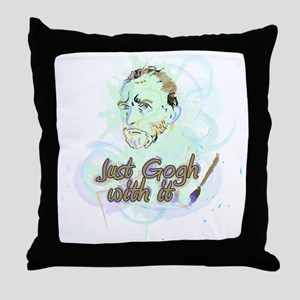 Just Gogh With It! Throw Pillow