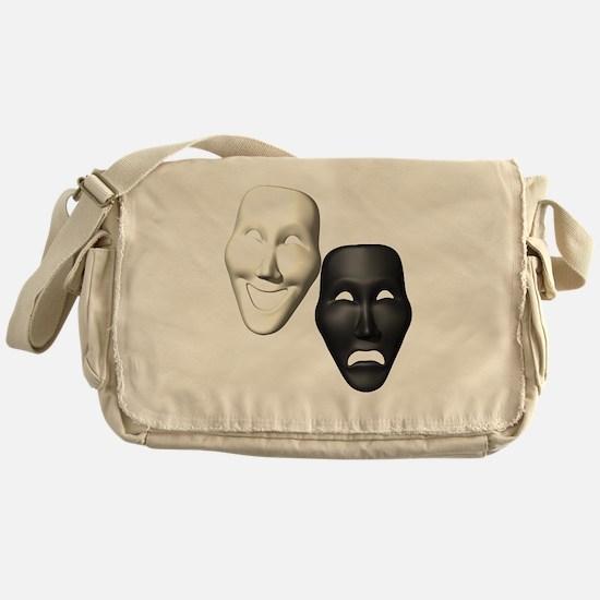MASKS OF COMEDY & TRAGEDY Messenger Bag