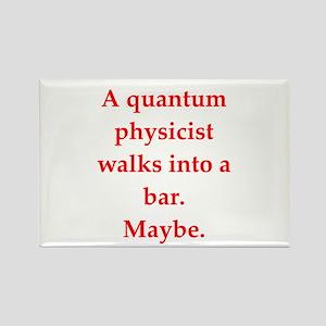 funny physics joke Rectangle Magnet