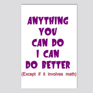 Except for Math Postcards (Package of 8)