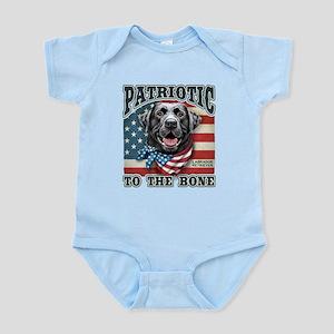 Patriotic - Black Lab Infant Bodysuit