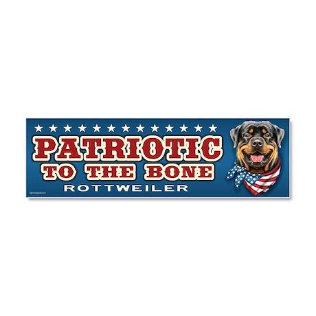 Patriotic - Rottweiler Car Magnet 10 x 3