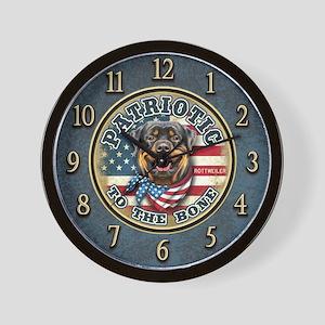 Patriotic - Rottweiler Wall Clock