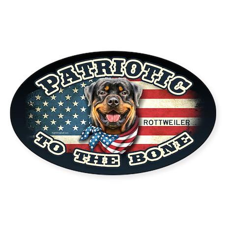 Patriotic - Rottweiler Sticker (Oval)