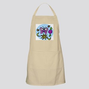 BUtterfly and Flowers BBQ Apron