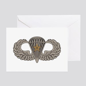 Combat Parachutist 1st awd basic Greeting Cards (P