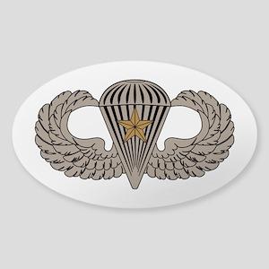 Combat Parachutist 1st awd basic Sticker (Oval)