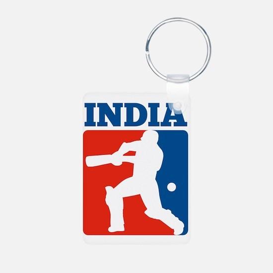 cricket batsman India Aluminum Photo Keychain