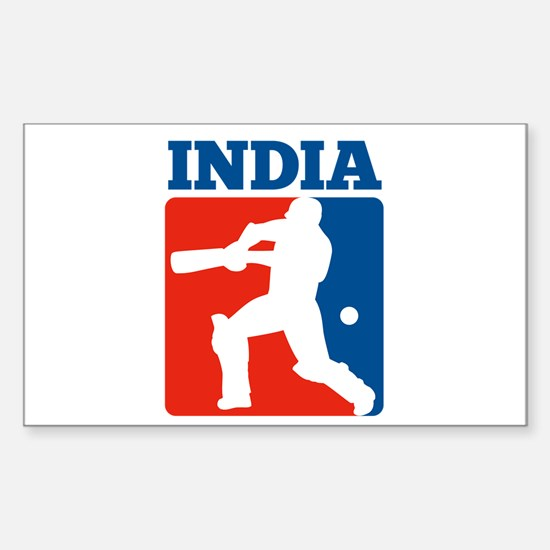 cricket batsman India Sticker (Rectangle)
