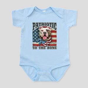 Patriotic - Pit Bull Infant Bodysuit