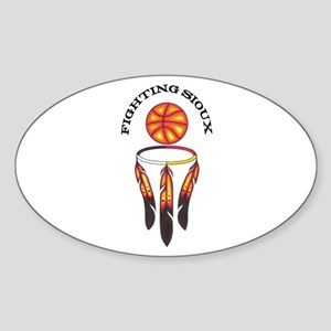 """""""Fighting Sioux"""" Sticker (Oval)"""