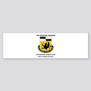 DUI - 4th BCT - Special Troops Bn with Text Sticke