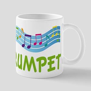 Trumpet Marching Band Music Mugs