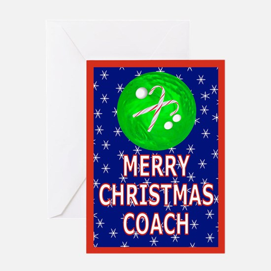 Christmas Bowling Coach Greeting Card