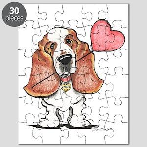 Basset Heart Balloon Puzzle