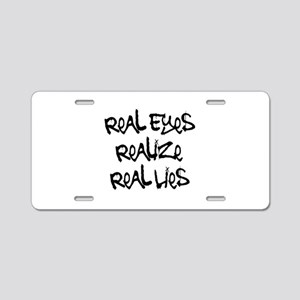 Real Eyes Aluminum License Plate
