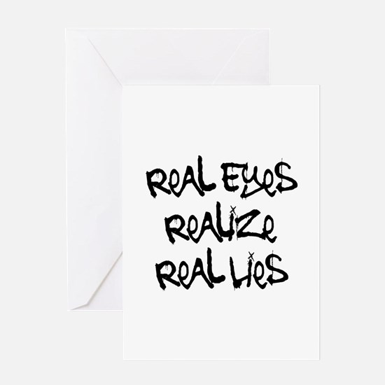 Real Eyes Greeting Card