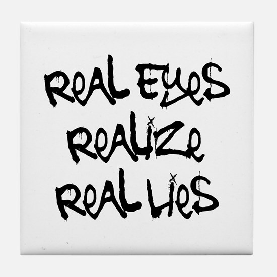 Real Eyes Tile Coaster