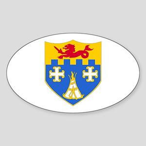 DUI - 1st Bn - 12th Infantry Regt Sticker (Oval)