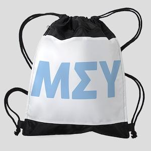 Mu Sigma Upsilon Sorority gree Drawstring Backpack