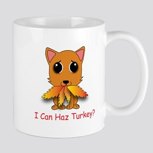 Thanksgiving Kitty Mug