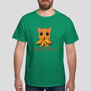 Thanksgiving Kitty Dark T-Shirt